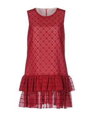 Короткое платье PHILOSOPHY DI LORENZO SERAFINI. Цвет: красно-коричневый