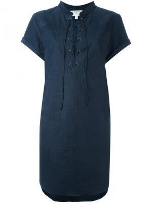 Платье на шнуровке Frame Denim. Цвет: синий