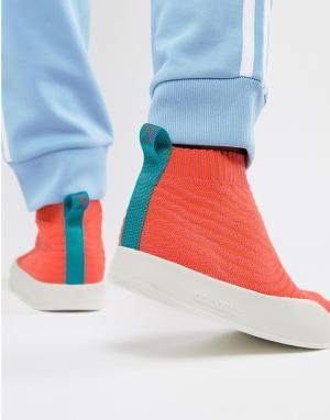 Adidas Originals Оранжевые кроссовки Adilette Primeknit Sock Summer CM. Цвет: оранжевый