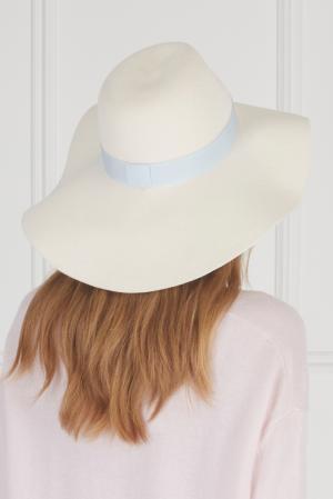 Фетровая шляпа MDWS. Цвет: кремовый, голубой
