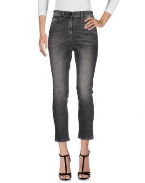 Джинсовые брюки PENCE. Цвет: свинцово-серый
