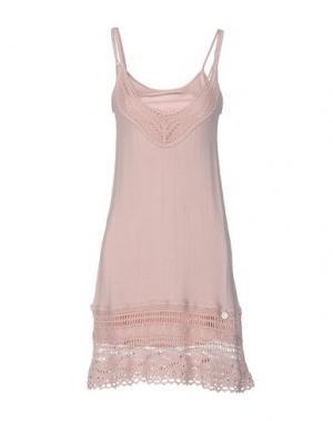 Короткое платье REBEL QUEEN. Цвет: розовый