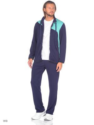Спортивный костюм FORLIFE. Цвет: темно-синий, бирюзовый