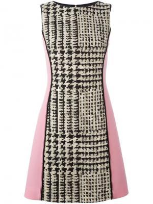 Платье в ломаную клетку Fausto Puglisi. Цвет: многоцветный