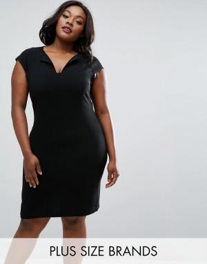 Elvi Платье Plus. Цвет: черный