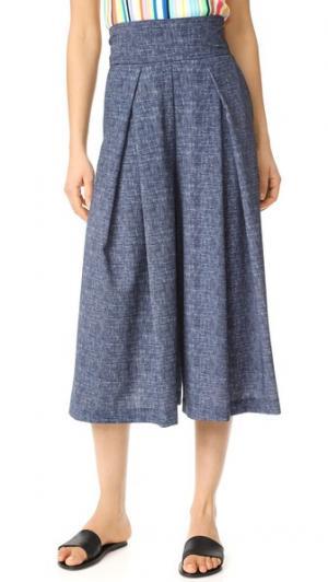 Юбка-брюки из крепа Milly. Цвет: мульти
