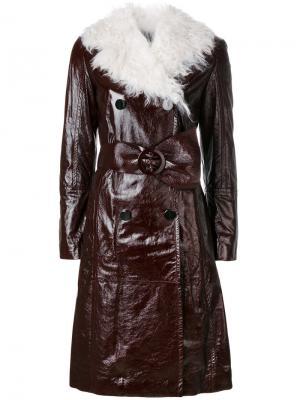Двубортное пальто Drome. Цвет: красный