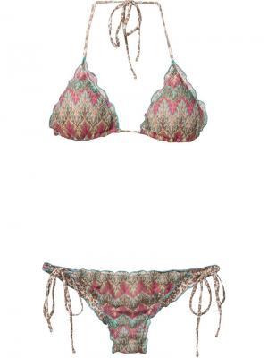 Printed triangle bikini set Brigitte. Цвет: синий