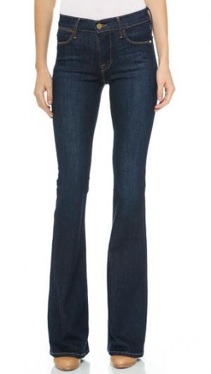 Расклешенные джинсы Le с высокой посадкой FRAME. Цвет: голубой