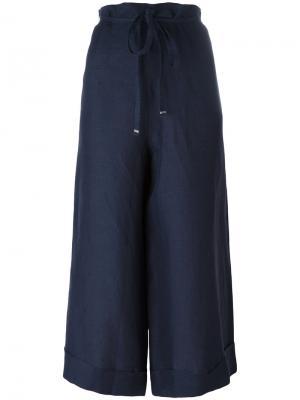 Super wide cropped trousers Daniela Gregis. Цвет: синий