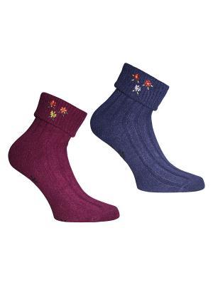 Носки, 2 пары Master Socks. Цвет: антрацитовый, бордовый