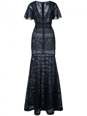 Кружевное платье J. Mendel. Цвет: синий