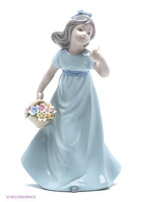 Фигурка Девочка Pavone. Цвет: бежевый, голубой, серый, синий