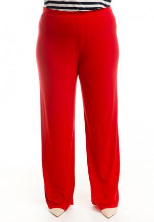 Брюки Luxury Plus. Цвет: красный