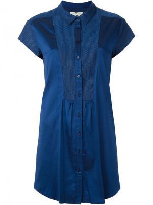 Рубашка с короткими рукавами Cotélac. Цвет: синий