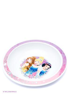 Тарелка глубокая Принцессы Trudeau. Цвет: белый, розовый