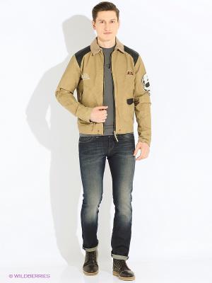 Куртка VON DUTCH. Цвет: бежевый