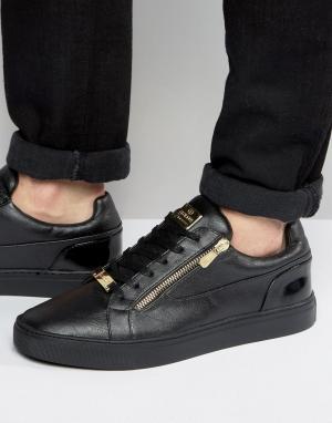 Glorious Gangsta Черные кроссовки с молниями London. Цвет: черный
