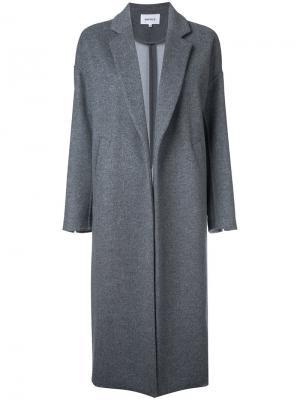 Удлиненное пальто Enföld. Цвет: серый