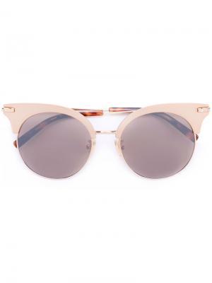 Солнцезащитные очки в оправе кошачий глаз Boucheron. Цвет: металлический