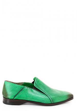 Лоферы SMALTO. Цвет: зеленый