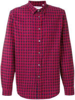 Клетчатая рубашка Department 5. Цвет: красный