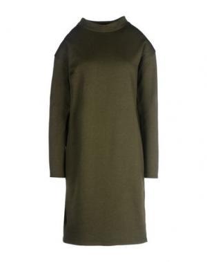 Короткое платье PEOPLE TREE. Цвет: зеленый-милитари