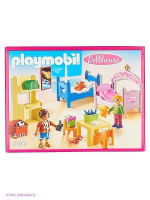 Кукольный дом: Детская комната для 2-х детей Playmobil. Цвет: розовый, синий