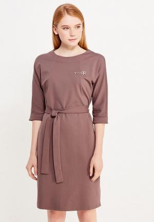 Платье Savage. Цвет: коричневый