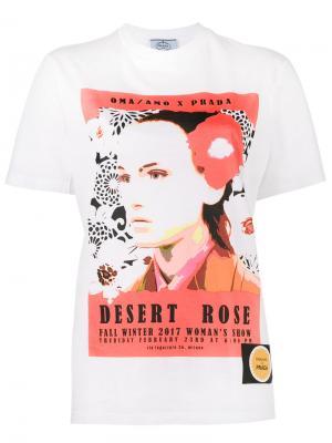 Футболка Desert Rose Prada. Цвет: белый