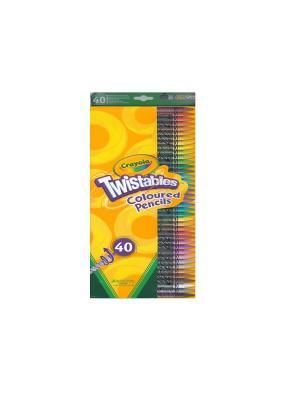 Набор для творчества 40 выкручивающихся цветных карандашей Crayola. Цвет: желтый