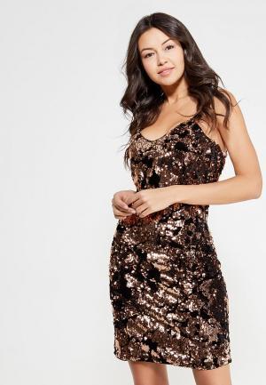 Платье Only. Цвет: золотой