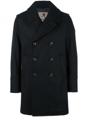 Двубортное пальто Sealup. Цвет: чёрный