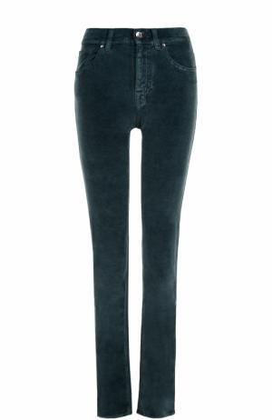 Бархатные джинсы-скинни Jacob Cohen. Цвет: зеленый