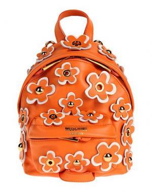 Рюкзаки и сумки на пояс MOSCHINO. Цвет: оранжевый