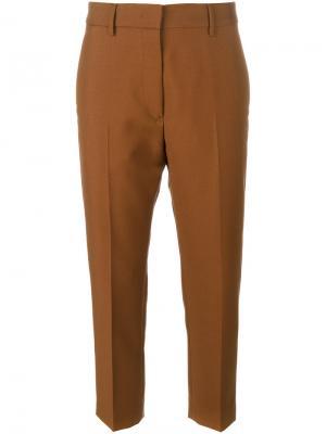 Классические укороченные брюки Jil Sander. Цвет: коричневый