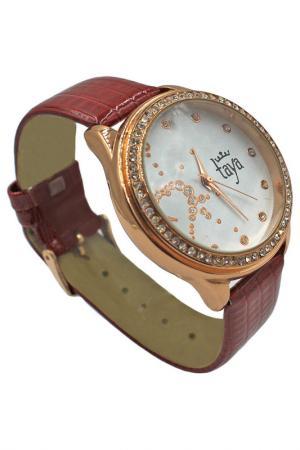 Часы Taya. Цвет: золотистый, бордовый