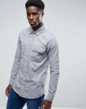 Waven Серая рубашка в стиле вестерн Ash. Цвет: серый