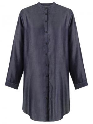 Платье-рубашка свободного кроя Uma   Raquel Davidowicz. Цвет: синий