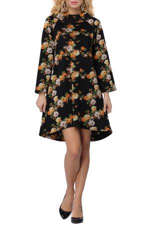 Платье Kata Binska. Цвет: черный, желтый