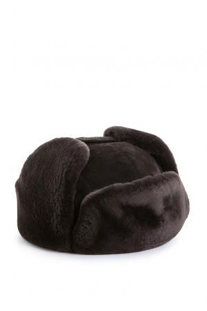 Замшевая шапка с отделкой из меха шиншиллы 158181 Zilli. Цвет: коричневый