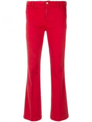 Расклешенные брюки Pt01. Цвет: красный