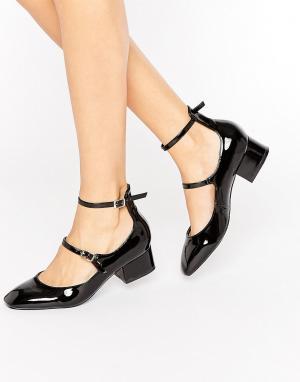 Raid Туфли на среднем каблуке с ремешком вокруг щиколотки Alexus. Цвет: черный