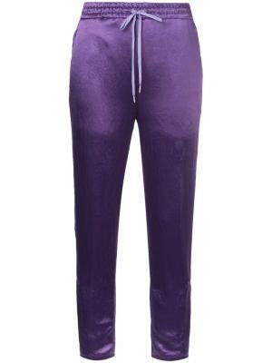 Укороченные спортивные штаны H Beauty&Youth. Цвет: розовый и фиолетовый