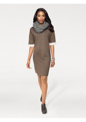 Платье PATRIZIA DINI. Цвет: песочный
