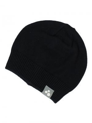 Вязаная детская шапка BORIS HUPPA. Цвет: черный