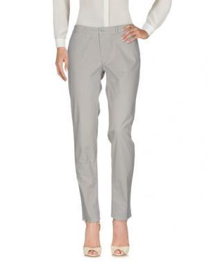 Повседневные брюки 0/ZERO CONSTRUCTION. Цвет: светло-серый