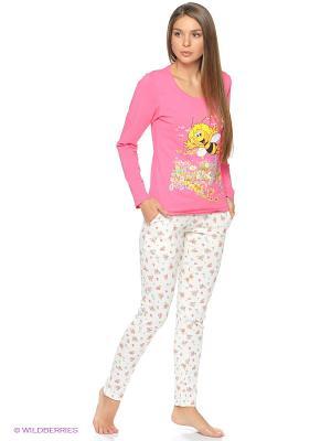 Пижама CLEO. Цвет: бледно-розовый, розовый, кремовый