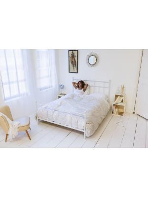 Комплект постельного белья Венецианское кружево 200х220см SNURK. Цвет: белый, серый, светло-серый