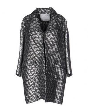 Легкое пальто GIADA BENINCASA. Цвет: свинцово-серый